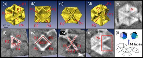 硫化铜十四面体微晶结构